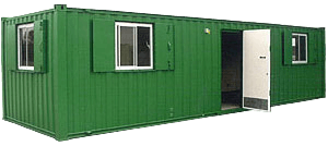 Corrugated sided accomodation unit